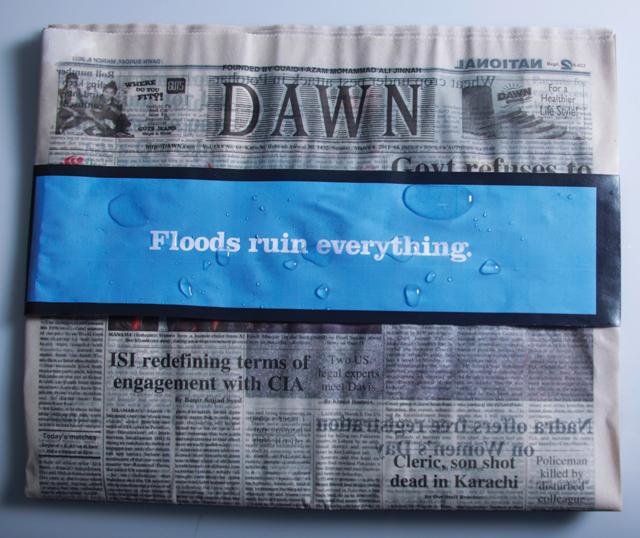 Prší mi na moje noviny!
