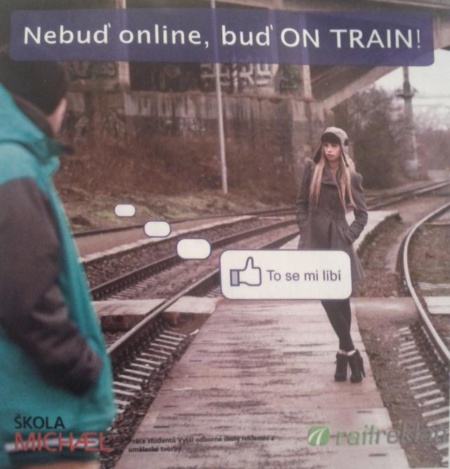 Jak roztomile upozornit na smutný fakt, že ve většině vlaků pořád nemáme wi-fi.