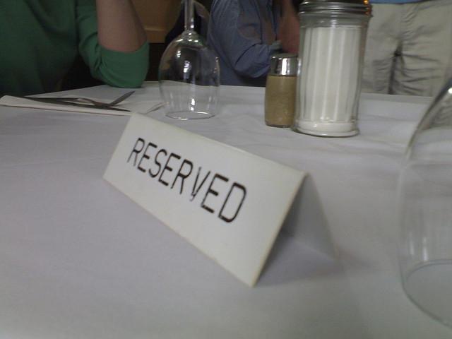 VY: Rezervace obsazených stolů